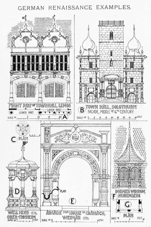 german renaissance examples a history of architecture on the comparative method by sir banister. Black Bedroom Furniture Sets. Home Design Ideas