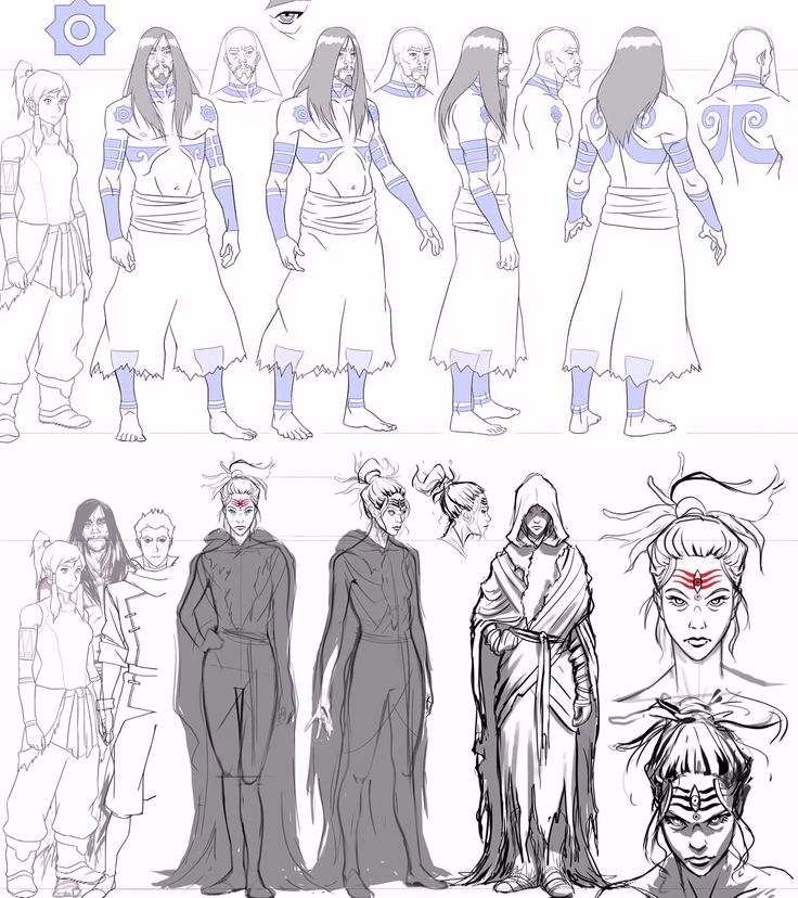 The Legend of Korra Book 3 Character Sheets