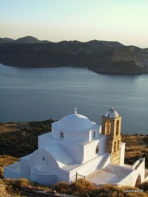 Sunset from the castle of Milos island by LeonidasGR