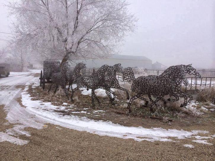 Realizzato da ferri di cavallo vecchie di Jay Russell, Caldwell, Idaho