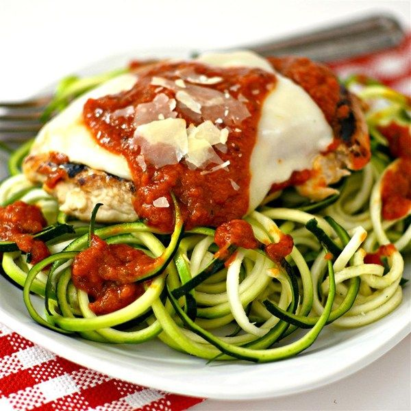 Free Recipes For Chicken: Chicken Parmesan With Zucchini Pasta