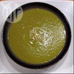 Photo recette : Soupe poireau, aubergine et curry