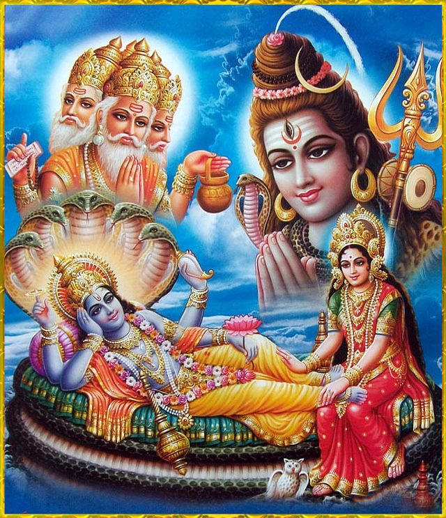 Trinity - The 3 Indian Gods who are responsible for Birth,Sustenance of Life & Death.