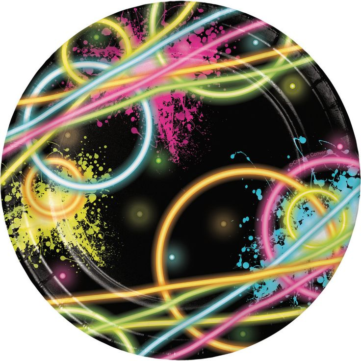 Just what's needed to set the table at your Neon, Glow in the Dark, Cosmic Bowling or Glow Skating party! + Images of Glow Sticks shine bright under a Black Light for a cool effect! + Package contains