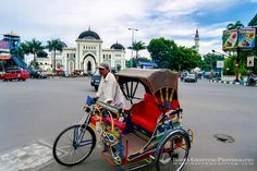 cycle rickshaw, Medan-Indonesia