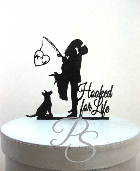hooked on love wedding cake topper best 25 silhouette wedding cake ideas on 15312