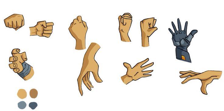 Chara-design hand || by Adilas