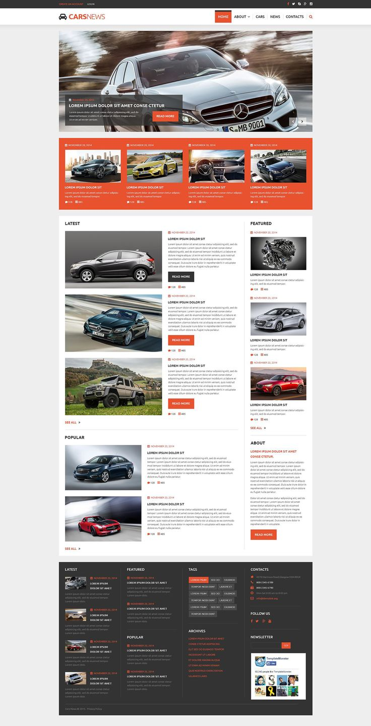 Joomla template 54947 in car category