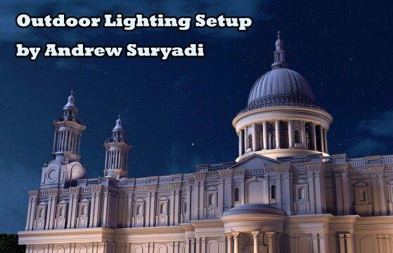 Outdoor 3d lighting setup tutorial available at www.mementoanimation.com tutorials section #tutorial #digitalart