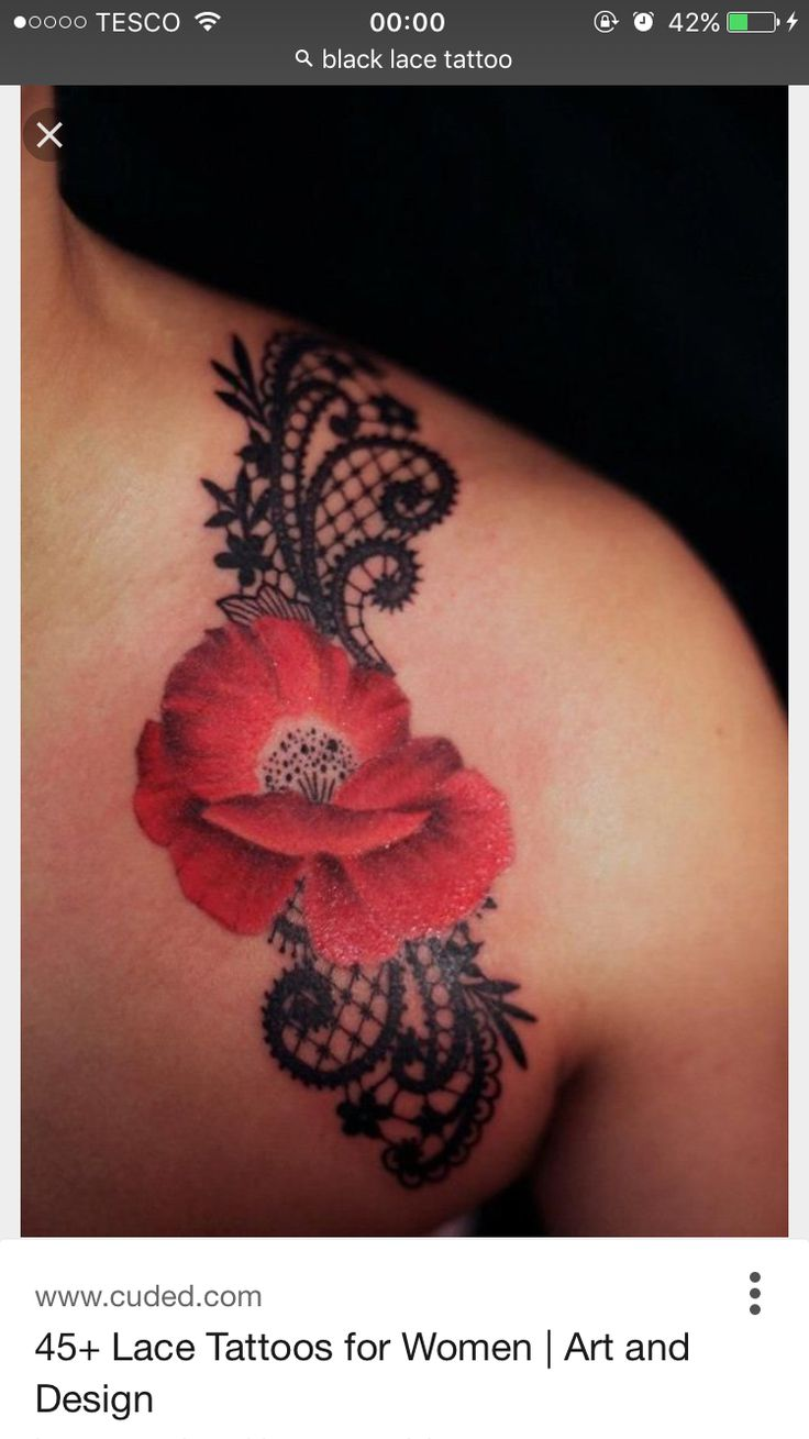 1000 ideas about red flower tattoos on pinterest flower for Over moisturized tattoo