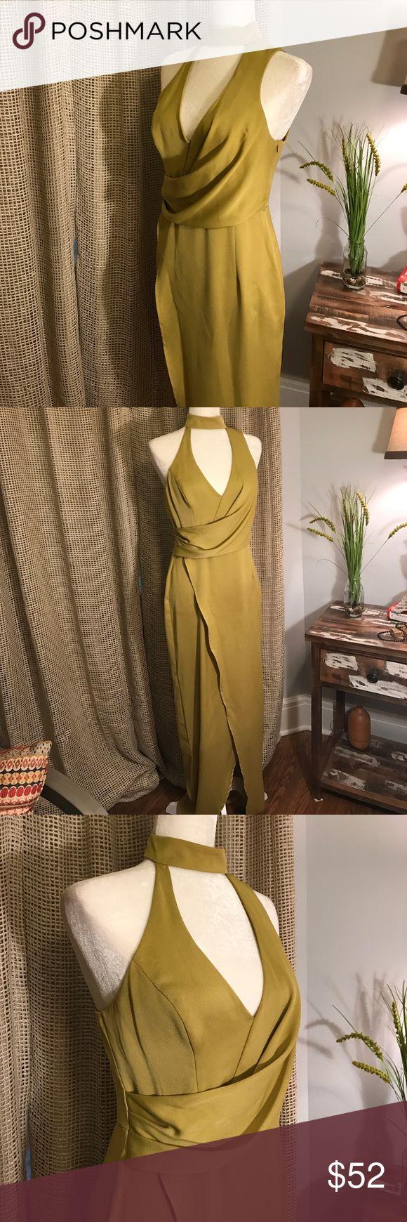 ASOS LONG DRESS ASOS LONG DRESS Size 6. Worn once to an evening wedding. Beautiful green color with choker neck. ASOS Dresses Maxi
