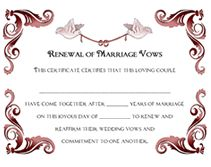 16 best vow renewal certificates images on pinterest vow renewals free renewal of wedding vows printable certificates templates yadclub Gallery