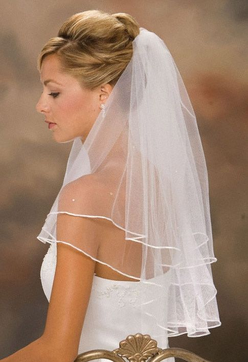 Promotional Veil Brides Sashes Or Ribbons Elbow Veils