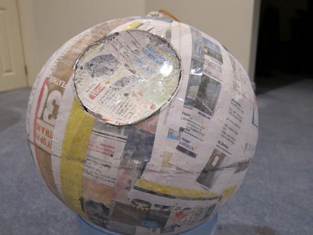 How To: Make a Death Star Pinata | the adventures of MNMs
