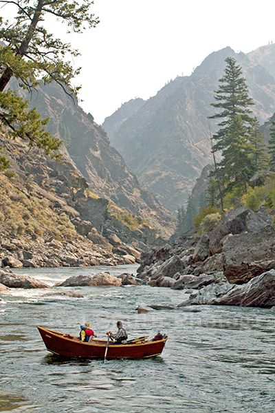 Fishing out of a Drift Boat on the Middle Fork of the Salmon River in the heart of Idaho's Frank Church Wilderness.