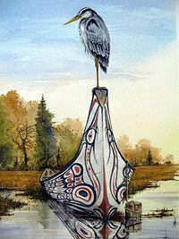 Native heron....artist Sue Coleman