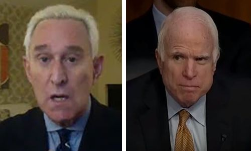 Roger Stone's cruel response to McCain: 'Karma about to get you, and you will burn in hell for all eternity'