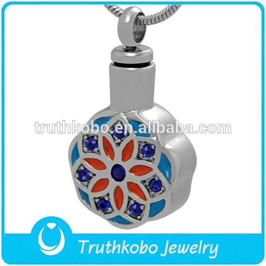 Dongguan Truthkobo Manufacturing High Quality Printing Colorful Flowers Cremation Urns Pendant Keepsake for Your Love People