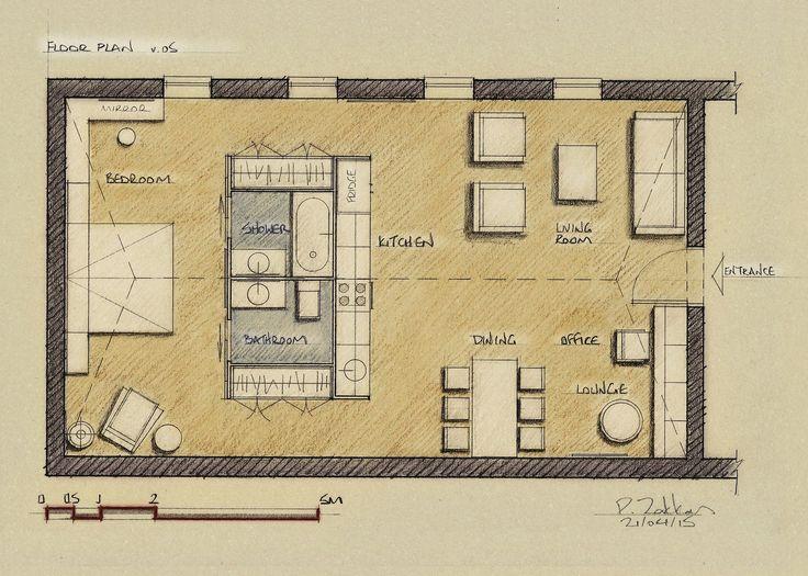 Loft Apartment 75 sqm, Floor Plan, Version 05 - www.pzarch.gr