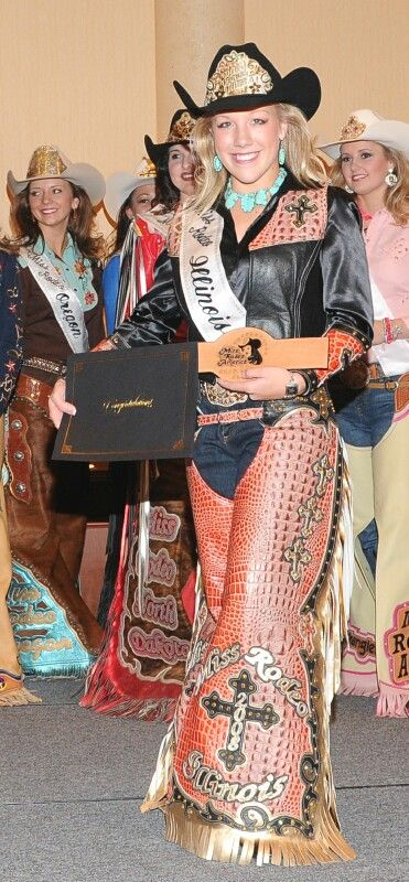 Miss Rodeo Illinois has awesome chaps