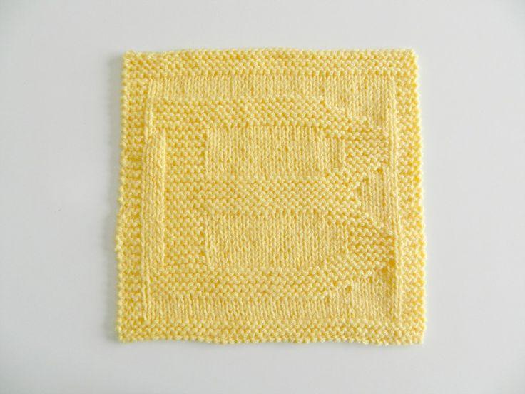 ALPHABET DISHCLOTH: B - OhLaLana   Knitting blogs ...