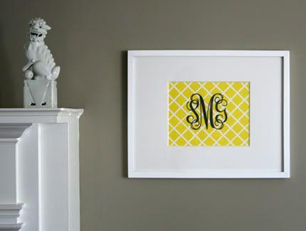 DIY Wall Decor Monogram: Wall Monograms, Baby Gifts, Frames Monograms, Preppy Monograms, Fun Projects, Diy Wall Decor, Frames Wall, Hostess Gifts, Girls Rooms