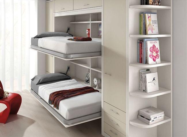 Kinderzimmer Klappbetten Design-Unisex Limba-beige