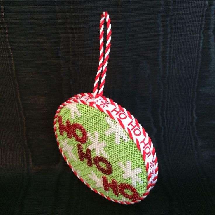 Finishing of the Ho Ho Ho ornament