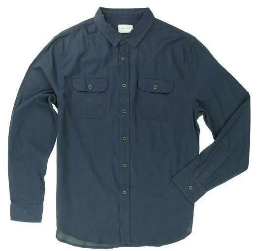 New Jachs Mens Twill Soft Cotton Long Sleeve Button Shirt