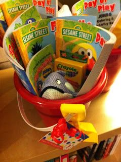 Elmo's party goodie bags