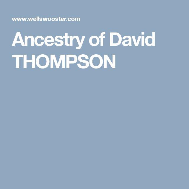 Ancestry of David THOMPSON