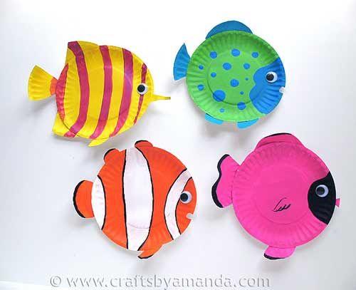 Manualidad para niños: peces de colores