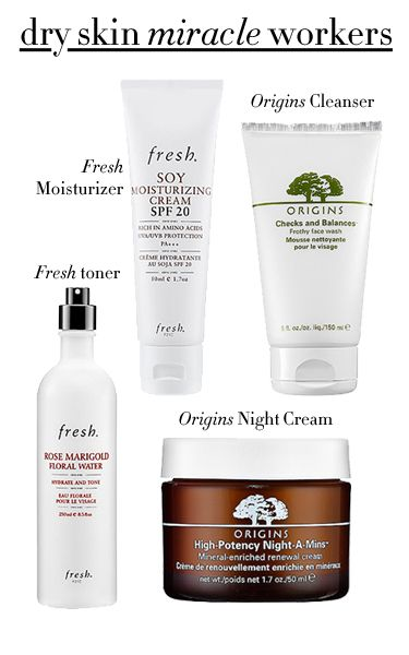My skin isn't dry, but I need a good damage-control cream...origins might do the trick