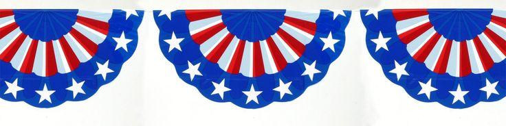 11' Patriotic Bunting Garland - Grand Celebration Banner