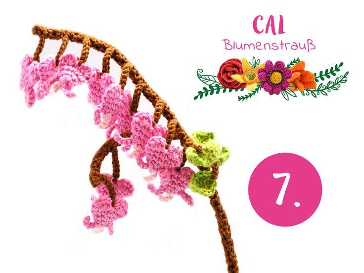 Tränendes Herz, gratis Häkelanleitung zu dieser und vielen anderen Blumen finden Sie hier: http://www.wollplatz.de/blog/blumenstrauss-cal/