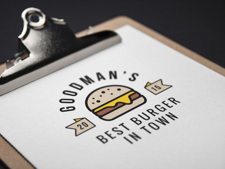 Burger Logo Mockup by Raul Taciu