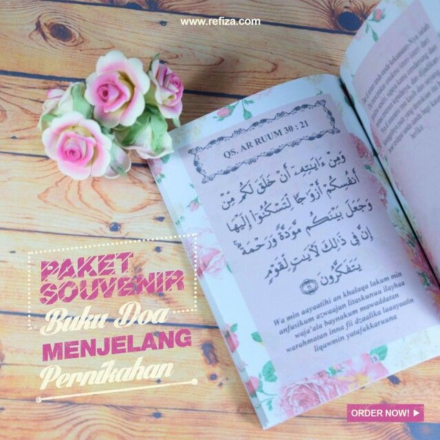 Buku Doa Menjelang Pernikahan Full Warna bisa kamu dapatkan d Refiza Souvenir