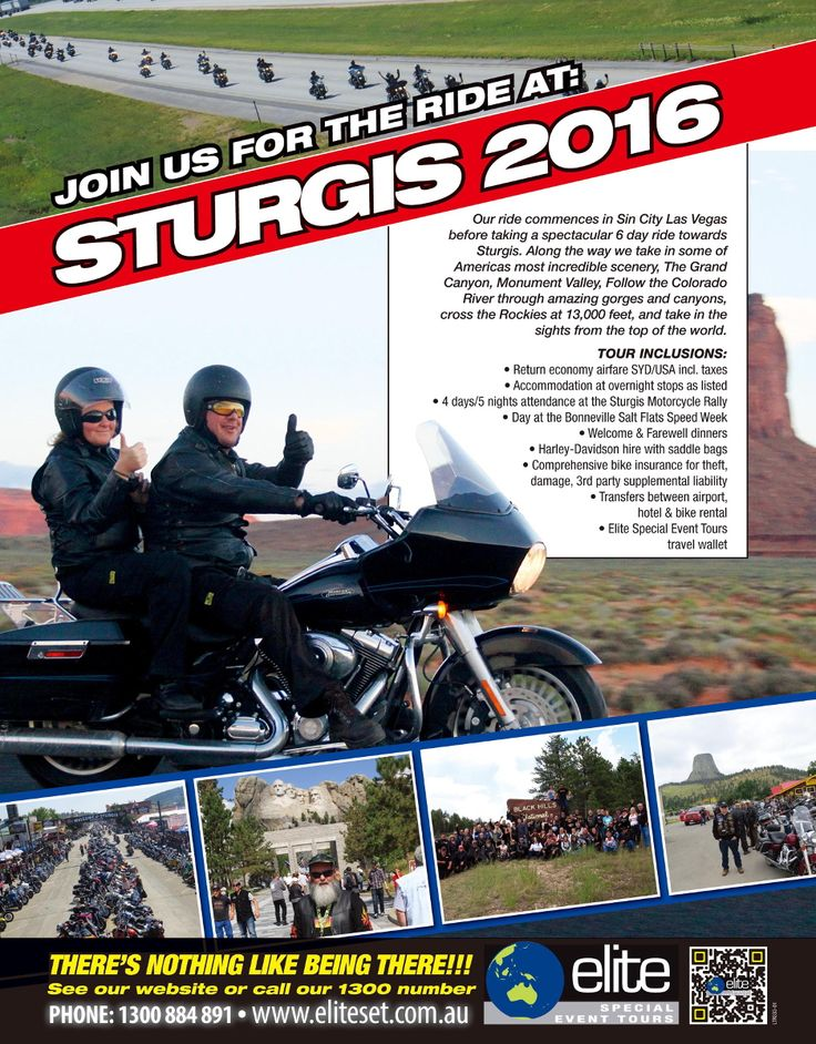 Join us for the ride to Sturgis 2016 Sturgis is a truly amazing place. A phenomenon that only bikers will understand. Hundreds of thousands of bikes and bikers all in …