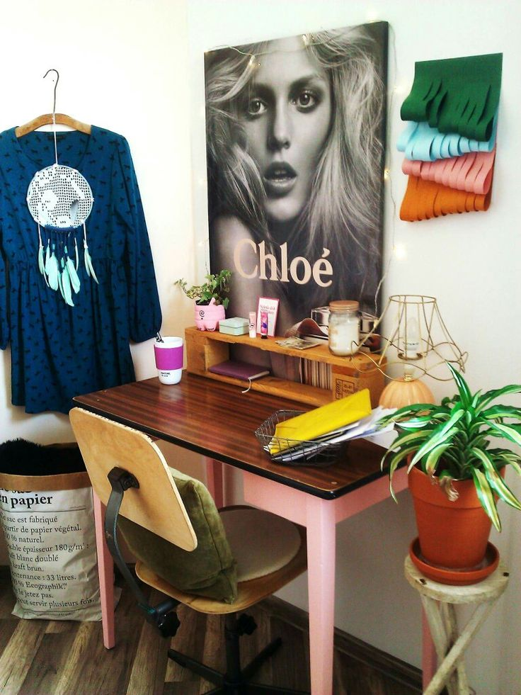 My home office eclectic and vintage anja rubik poster chloe