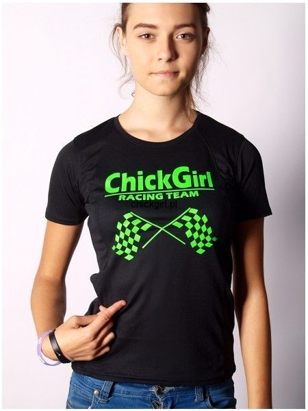 T-shirt sportowy ChickGirl Racing Team
