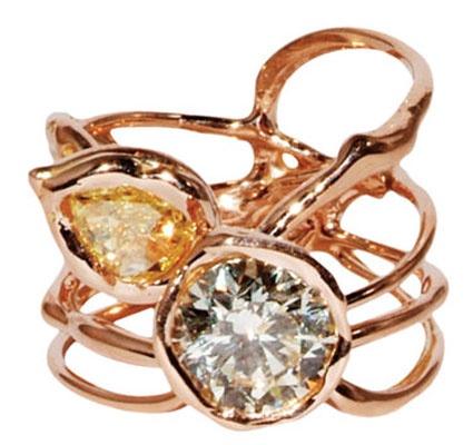 unique: Roses Gold, Diamonds, Unique Rings, Gold Rings, Vir Honestus, Jewelry, Unique Engagement, Lucif Vir, Engagement Rings