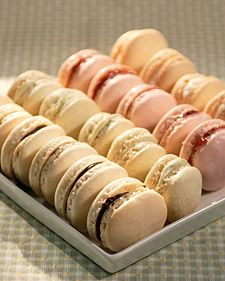 Martha Stewart Parisian Macaroons. This recipe is fantastic. It takes a lot of work, but these are super yummy. Almond flour is just ground up almonds. If you have a food processor, you can just throw them in there.