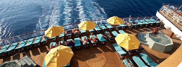 Our wooden umbrellas on the back of a popular Cruise line!