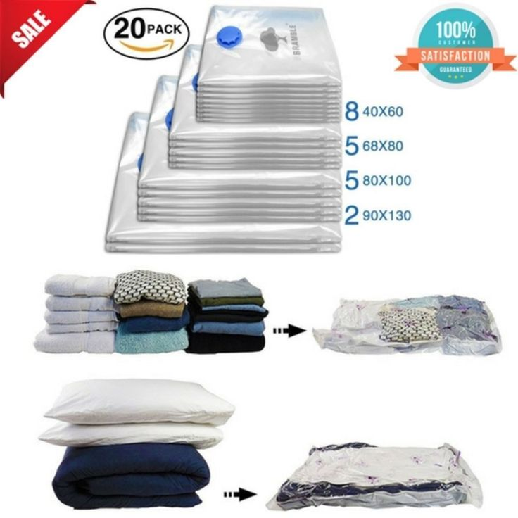 20 Vacuum Sealer Storage Bags for Clothes Organizer Heavy Duty Space Saving Bags #Bramble