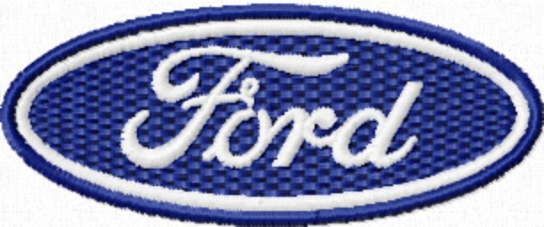 Photo Of Ford Automobile Logo Machine Embroidery Design In