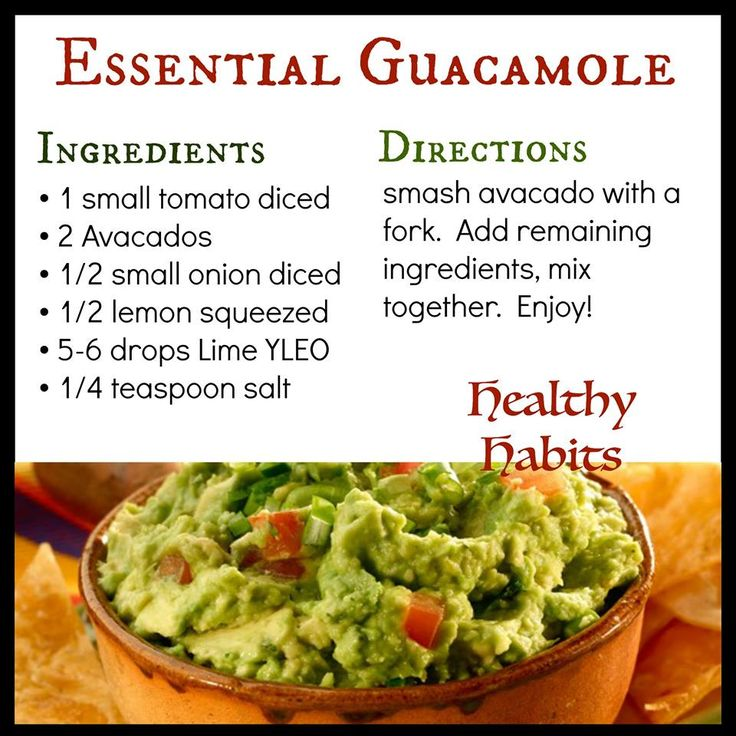 Young Living Essential Oils:  Guacamole Recipe