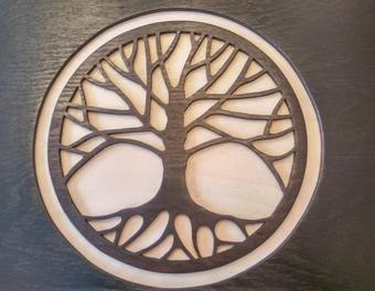 """Holzbild """"Baum des Lebens"""" HolzDekorationBaumBild"""