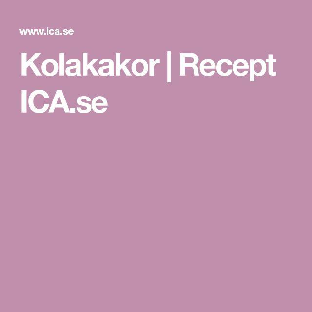 Kolakakor   Recept ICA.se