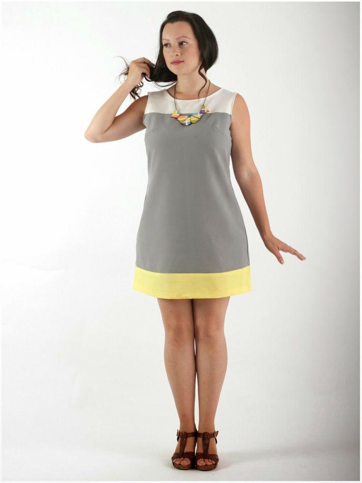 Julia Bobbin - Colour blocked Laurel by Colette Patterns #sewing