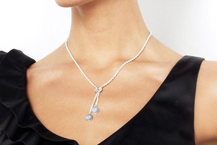 Twin Dots - Silver Necklace - Efva Attling